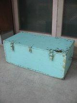 ウッドボックス ペパーミントグリーン 木箱 ツールボックス ストレージボックス 取手付き シャビーペイント アンティーク ビンテージ