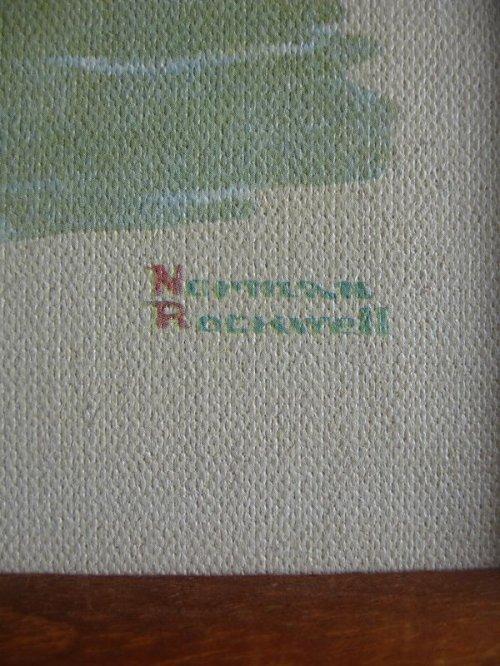 other photographs.2: ノーマンロックウェル Gone Fishing Norman Rockwell ウッドフレーム 壁掛け ウォールオーナメント アンティーク ビンテージ