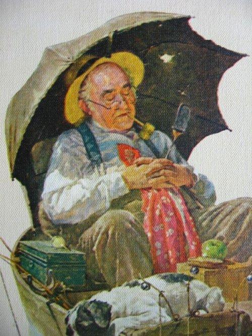 other photographs.1: ノーマンロックウェル Gone Fishing Norman Rockwell ウッドフレーム 壁掛け ウォールオーナメント アンティーク ビンテージ