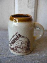 ミルクピッチャー 一輪挿し Minnesota 陶器 アンティーク ビンテージ
