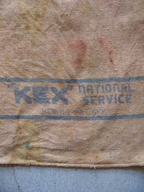 "other photographs.3: ファブリック ワイピングクロス ウエス SHOP TOWEL SERVICE ""KEX"" national SERVICE 生地 タオル アンティーク ビンテージ"
