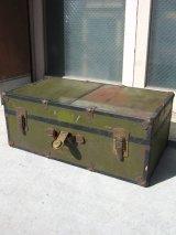 メタルトランク 中型 スーツケース 店舗什器に アンティーク ビンテージ