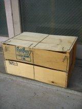 ウッドボックス ベジタブル箱 木箱 ROY・BOY ストレージBOX アドバタイジング アンティーク ビンテージ