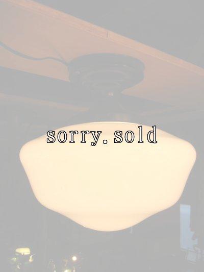画像3: 1920'S アーリーセンチュリー ミルクガラスシェード スクールハウスシーリング フラッシュマウント 1灯 メタル アンティーク ビンテージ