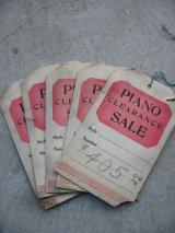 1920'S 30'S 値札 下げ札 プライスカード ピアノ PIANO CLEARANCE SALE 5pcs set アンティーク ビンテージ