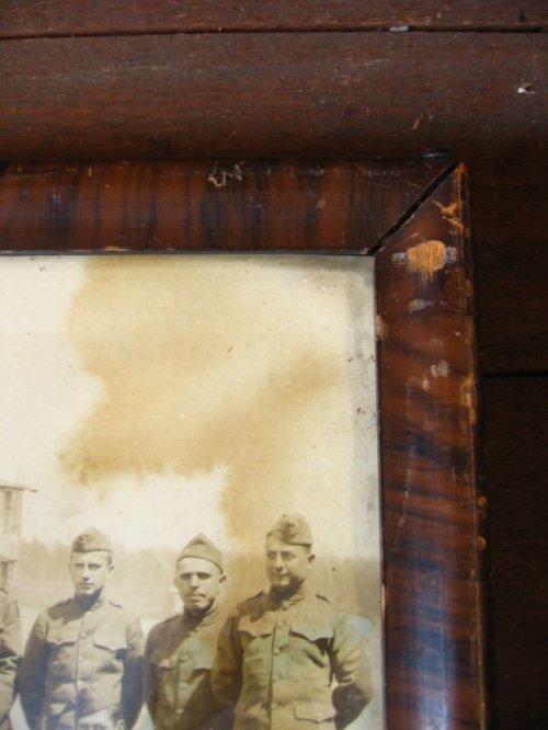 other photographs.1: WWI 1910'S 20'S PHOTOGRAPHIC ART CORP U.S.ARMY 集合写真 ウッドフレーム ガラス入 壁掛け ウォールオーナメント アンティーク ビンテージ