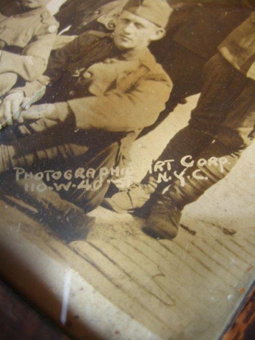 other photographs.2: WWI 1910'S 20'S PHOTOGRAPHIC ART CORP U.S.ARMY 集合写真 ウッドフレーム ガラス入 壁掛け ウォールオーナメント アンティーク ビンテージ