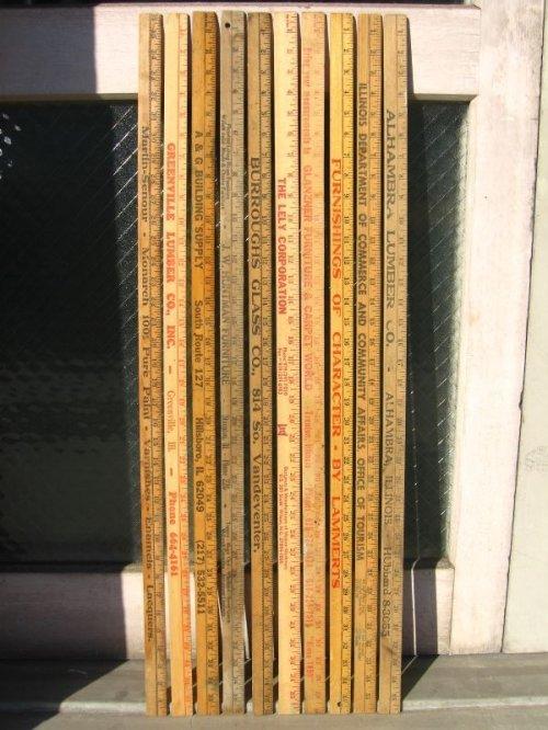 other photographs.1: 木製 スケール ルーラー ものさし 定規 インチ センチ ウッド アドバタイジング アンティーク ビンテージ