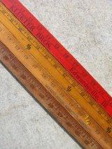 木製 スケール ルーラー ものさし 定規 インチ センチ ウッド アドバタイジング アンティーク ビンテージ
