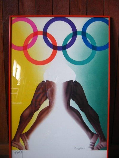 other photographs.1: 1972年 70'S olympic games 1972 munich ミュンヘン オリンピック ポスター ミュージアム ALLEN JONES pop art  münchen hockney アレンジョーンズ アルミフレーム ウォールデコ ウォールオーナメント アンティーク ビンテージ