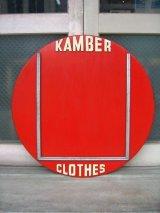 1920年代 バナー CLOTHING STORE 1920'S アド 看板 KAMBER CLOTHES ショップサイン ウッド アンティーク ビンテージ