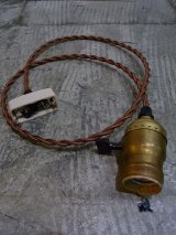 1920'S 30'S 40'S solid brass fatboy socket ソケットシンプルランプ ベアバルブ 裸電球 ブラス 真鍮 【随時オーダー受付中】 アンティーク ビンテージ