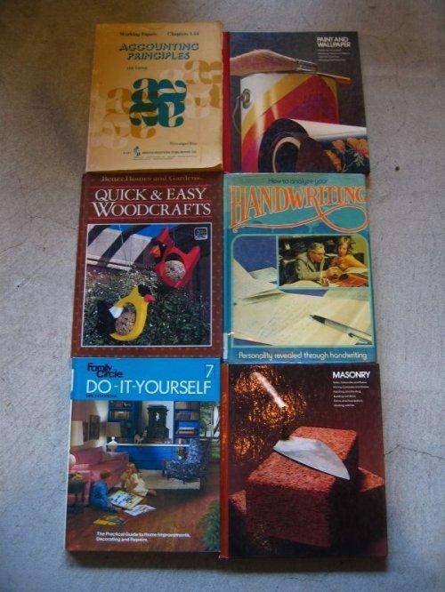 other photographs.1: 1950's 70's 80's 6冊set DIY本 工作 洋書 古書 ディスプレイに アンティーク ビンテージ