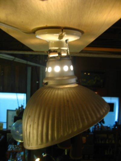 画像2: 1910'S 20'S アーリーセンチュリー mercury glass シーリングライト pittsburgh permaflector ミラーガラス X-Ray シェード 1灯 ポーセリン レセプタクル アンティーク ビンテージ