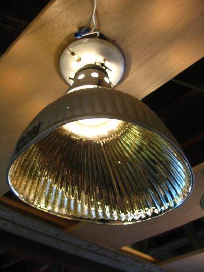 画像1: 1910'S 20'S アーリーセンチュリー mercury glass シーリングライト pittsburgh permaflector ミラーガラス X-Ray シェード 1灯 ポーセリン レセプタクル アンティーク ビンテージ