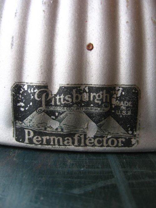 other photographs.2: 1910'S 20'S アーリーセンチュリー mercury glass シーリングライト pittsburgh permaflector ミラーガラス X-Ray シェード 1灯 ポーセリン レセプタクル アンティーク ビンテージ