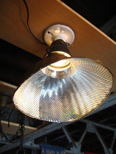 画像1: 1910'S 20'S アーリーセンチュリー mercury glass X-Ray SHADE シーリングライト ミラーガラスシェード 1灯 ポーセリン レセプタクル アンティーク ビンテージ