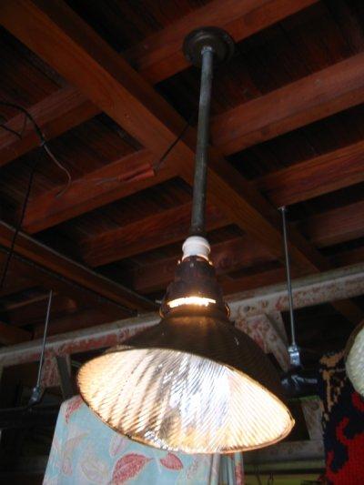 画像1: 1910'S 20'S アーリーセンチュリー mercury glass X-Ray SHADES ミラーガラス シェード wheeling curtis lighting 1灯 アイアン アンティーク ビンテージ