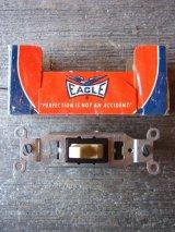アメリカ製 トグルスイッチ LEVITON EAGLE レバースイッチ 壁スイッチ ベークライト デッドストック アンティーク ビンテージ