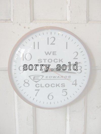 画像1: 50'S 50年代 フィフティーズ ウォールクロック ディーラーサイン アドバタイジング 美品 壁掛け時計 EDWARDS CLOCKS アンティーク ビンテージ