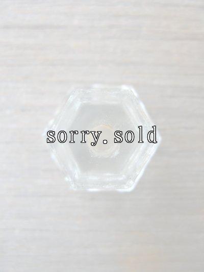 画像5: アーリーセンチュリー 取っ手 取手 引き手 ドロワープル クリアガラス 7pcs set アンティーク ビンテージ