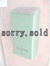 1930'S 40'S U.S.MAIL BOX アメリカ ポスト メールボックス 壁掛け メタル グリーン アンティーク ビンテージ