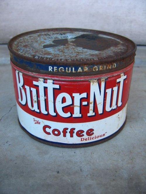 other photographs.2: コーヒー 缶 Butter-Nut COFFEE ティン缶 蓋付き アドバタイジング アンティーク ビンテージ