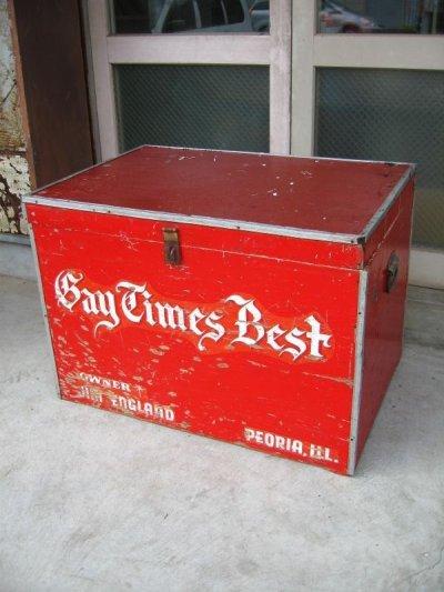 画像1: 1950'S ストレージBOX ストレージユニット Bay Times Best 超大型 ウッドボックス ツールボックス 木箱 アンティーク ビンテージ