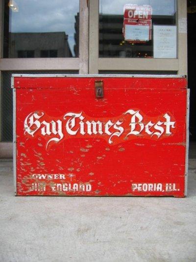 画像2: 1950'S ストレージBOX ストレージユニット Bay Times Best 超大型 ウッドボックス ツールボックス 木箱 アンティーク ビンテージ