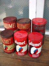ティン缶 6個セット インディアン ネイティブアメリカン CALUMET ベーキングパウダー 6pcs set アドバタイジング アンティーク ビンテージ