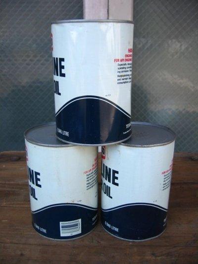 画像4: オイル缶 70'S TEXACO エンジンオイル SAE 20-20W HD アドバタイジング アンティーク ビンテージ