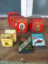 タバコ缶 ティン缶 アドバタイジング ショップディスプレイなどに アンティーク ビンテージ