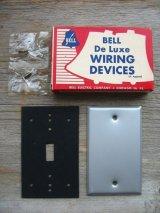 BELL ブランクプレート 盲蓋 メクラ蓋 真鍮 NOS デッドストック 箱付き アンティーク ビンテージ