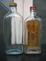 1940'S 50'S ガラスボトル 2本セット CHAMPION BRAND アドバタイジング アンティーク ビンテージ