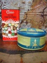 アイスクリーム缶 ドロップ缶 2個セット ティン缶 アドバタイジング アンティーク ビンテージ