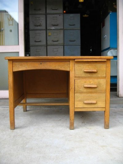 画像2: ウッドデスク    soho    オフィスデスク    机 テーブル ウッド アンティーク ビンテージ