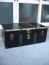 メタルトランク 大型 スーツケース インナートレイ 店舗什器に アンティーク ビンテージ