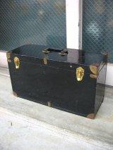 ミニトランク 小型 スーツケース メタル インナートレイ 店舗什器に アンティーク ビンテージ