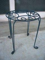 プランタースタンド 装飾 メタル ミニテーブル ショップ什器 アンティーク ビンテージ