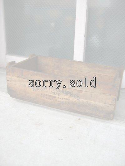 画像1: ウッドボックス 木箱 LUDLOW TYPOGRAPH CO. ストレージボックス アドバタイジング アンティーク ビンテージ