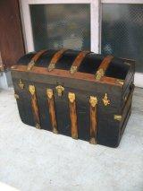 トランク 大型 スーツケース ドームトップ 店舗什器に アンティーク ビンテージ