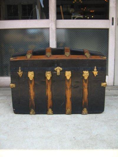 画像2: トランク 大型 スーツケース ドームトップ 店舗什器に アンティーク ビンテージ