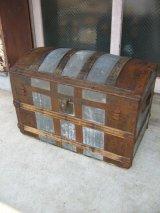 トランク 大型 スーツケース ドームトップ シャビーシック 店舗什器に アンティーク ビンテージ