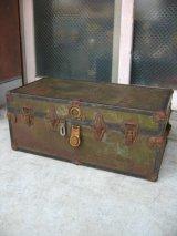 メタルトランク 中型 スーツケース シャビーシック 店舗什器に アンティーク ビンテージ