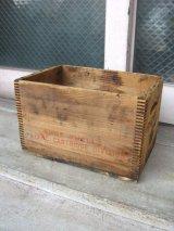 ウッドボックス 木箱 ストレージボックス アドバタイジング アンティーク ビンテージ