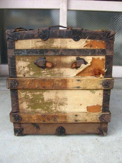 画像2: トランク 大型 スーツケース 店舗什器に アンティーク ビンテージ