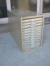 ファイルボックス KARDEX アドレス帳 ファイルストレージ メタルボックス 12段 インダストリアル アンティーク ビンテージ
