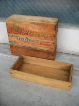 1930'S 40'S 50'S CHEESE CRATE チーズBOX チーズクレート mindsor club ウッドボックス 木箱 ストレージ アドバタイジング アンティーク ビンテージ