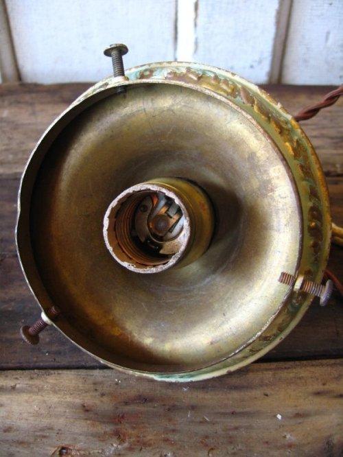 other photographs.3: シーリングペンダントライト ミルクガラスシェード 1灯 真鍮 アンティーク ビンテージ