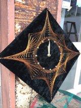 1970'S ワイヤーアート WIRE ART WIRE CRAFT フォークアート ウォールクロック クラフトクロック ミッドセンチュリーモダン 壁掛け時計 アンティーク ビンテージ